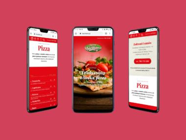 Strona www dla pizzeri LaSiciliana