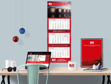 Kalendarz trójdzielny Mobilbox 2019
